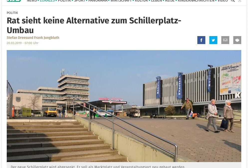 Rat sieht keine Alternative zum Schillerplatz-Umbau